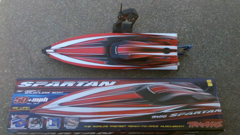 My Traxxas Spartan, The World's Fastest Ready-To-Race Muscleboat.